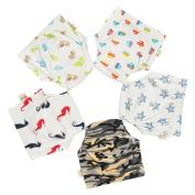 Babyfriend New Cute Pattern Washable Baby Kids Toilet Training Pants 5 Packs Reusable Toddler Underwear