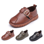 Ec Toddler Kid Girl Boy Baby Leather Shoes Soft Sole Sneaker Single Casual Shoes
