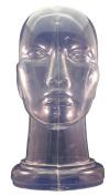 Clear Plastic Genderless Head