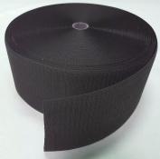 10cm BLACK SEW-ON HOOK and LOOP FASTENER - HOOK SIDE ONLY - 1 YARD