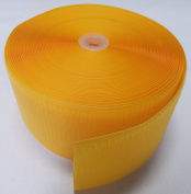 10cm YELLOW SEW-ON HOOK and LOOP FASTENER - HOOK SIDE ONLY - 1 YARD