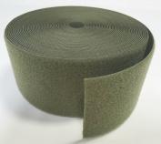 10cm OD (OLIVE) GREEN SEW-ON HOOK and LOOP FASTENER - LOOP SIDE ONLY - 1 YARD