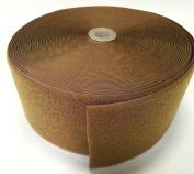 10cm COYOTE BROWN SEW-ON HOOK and LOOP FASTENER - LOOP SIDE ONLY - 1 YARD