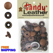 Tandy Leather Line 24 (5/16 in, 7.9 mm) 15 Copper Snap Buttons with Tool