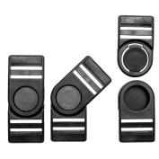 GENCASE 10X Black Plastic Swivel Snap Buckles Lanyard Quick Release Bag Strap Buckles