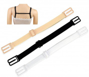 3 Pieces Women's Non-slip Elastic Adjustable Bra Strap Holder