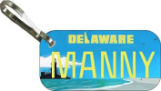 Personalised Delaware Lighthouse Zipper Pull State Licence Plate Replica