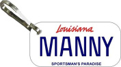 Personalised Louisana Sportsman Zipper Pull State Licence Plate Replica