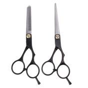 2pcs Salon Barber Hair Cutting Thinning Scissors Shears Hair Cutting Thinning Shears