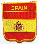 Spain Espana Plus Ultra National Flag patch Ideal for adorning your jeans, hats, bags, jackets and shirts.