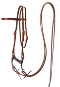 Fabtron Harness Leather Browband Bridle Natural