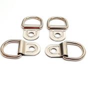 Set of 4 pcs Saddle Repair 1.9cm Clip & Dee 1.6cm D Ring