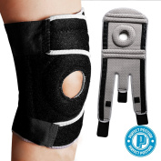 Perfect Posture Knee Brace Support with Open Patella for ACL, Arthritis, LCL, MCL. Side Stabilisers Non Slip Neoprene. Non Bulky, Adjustable Comfort Fit (1-Count)