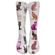 Funny Little Cat Athletic Tube Stockings Women's Men's Classics Knee High Socks Sport Long Sock One Size