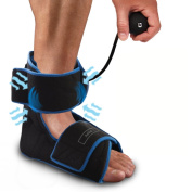 Inflatable Air Compression Gel Wrap For ANKLE Pain Relief. Reusable Cyro Cold Therapy Is Colder Than Ice For Long Last Pain Relief From Spasms, Swelling And Sore Muscles. Pneumatic Compression Wrap