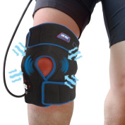Inflatable Air Compression Gel Wrap For KNEE Pain Relief. Reusable Cyro Cold Therapy Is Colder Than Ice For Long Last Pain Relief From Spasms, Swelling And Sore Muscles. Pneumatic Compression Wrap