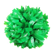 Danzcue 2 of Solid Colour Plastic Cheerleading Pom w/ Dowel Handle, Kelly Green