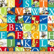Dr. Seuss ABC Blocks Adventure Fabric By The Yard
