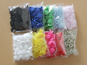 200 Sets KAM 10 Mixed Colour Size 20 T5 Plastic Resin Snaps Buttons USA Delivery
