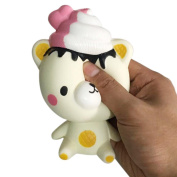 Inverlee Exquisite Fun Q Poo Bear Scented Squishy Charm Slow Rising 13cm Simulated Healing Fun Toy