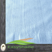 Easyshade 80% Quality White Sunblock Shade Cloth Taped Edge with Grommets UV 4.3m Width