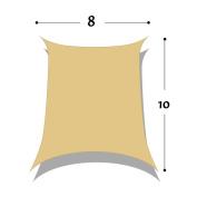 DIR 2.4m x 3m Rectangle Sun Shade Sail Uv Top Outdoor Canopy Patio Lawn Shade Sail in Colour Sand