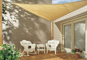 Sol Maya Triangle Patio Sun Shade Sail - Sand Colour Available in Multiple Sizes