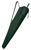 Beach Umbrella Carry Bag - Forest Green - with multipurpose pouch on the side
