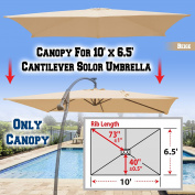 BenefitUSA Replacement Canopy Cover for 3m X 2m Cantilever Patio Umbrella Offest Parasol Top Replacement