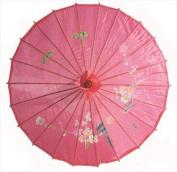 JapanBargain S-2164, Chinese Japanese Oriental Parasol Umbrella 80cm , Hot Pink Colour