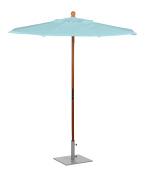 Oxford Garden U6MI Solid Tropical Hardwood Frame Mineral Blue Sunbrella Fabric Shade 1.8m Octagon Sunbrella Market Umbrella
