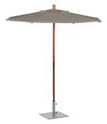 Oxford Garden U6TP Solid Tropical Hardwood Frame Taupe Sunbrella Fabric Shade 1.8m Octagon Sunbrella Market Umbrella