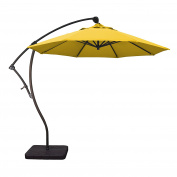 Phat Tommy 2.7m Cantilever Offset Aluminium Market Patio Umbrella with Tilt – For Shade and Outdoor Living, Lemon