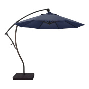 Phat Tommy 2.7m Cantilever Offset Aluminium Market Patio Umbrella with Tilt – For Shade and Outdoor Living, Navy