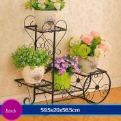 Iron Flower Frame Flower Floor Frame Living Room Balcony Indoor Multi-purpose Flower Rack (59.52056.5cm)