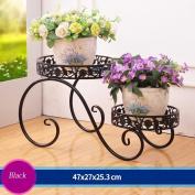 Iron Flower Staircase Flower Pot Rack Outdoor Living Room Balcony Flower Rack (472725.3cm)