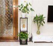 Flower Frame Iron Living Room Balcony Plant Flower Basin Frame Office Floor 3 Layers Shelf