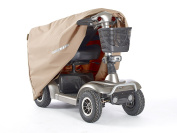 CoverMates – Mobility Scooter Cover – 18W x 45D x 31H – Elite Collection – 3 YR Warranty – Year Around Protection - Khaki