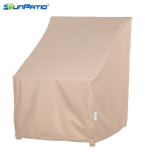SunPatio Outdoor Dining Chair Cover, Lightweight, Water Resistant, Eco-Friendly, Helpful Air Vent, All Weather Protection, Beige, 70cm L x 70cm W x 90cm H