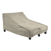 Classic Accessories 55-838-016701-RT Montlake FadeSafe Double Wide Patio Chaise Lounge Cover