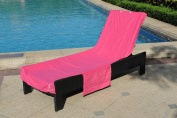 Perfect Beach or Pool Lounge Chair Towel Cover with Convenient Storage Pockets