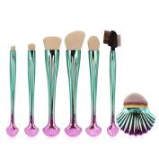 MAANGE 7Pcs Shell Shaped Makeup Brushes Synthetic Makeup Brush Set Cosmetics Foundation Blending Blush Eyeliner Face Powder Brush Kit