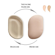 Makeup Blender & Silicone Sponge,Two in One Makeup Sponge Wet & Dry Sponge Blender,Reusable and Washable Latex -Works With Liquids, Powders, Creams