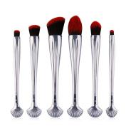 MAANGE 6pcs Shell Shaped Makeup Brush Set Professional Foundation Powder Blush Cosmetics Brushes Kit