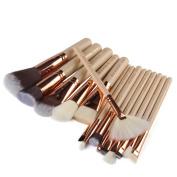 15 Pcs Professional Makeup Brushes Set Powder Foundation Contour Blending Eyeshadow Blush Synthetic Kabuki Brush Kit