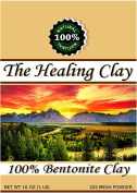 The Healing Clay - Best Sodium Bentonite Clay Powder - 100% Organic 325 Mesh for Body Mask, Hair, Bath Detox, Toothpaste, Acne, Insect Bites, add to Kitty Litter, Pond Sealer
