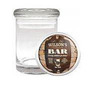 Medical Glass Stash Jar Vintage Bar Signs Cocktails S6 Air Tight Lid 7.6cm x 5.1cm Small Storage Herbs & Spices