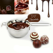 Chocolate Melt Pot,Stainless Chocolate Butter Melting Pot Pan Home Kitchen Milk Bowl Double Boiler
