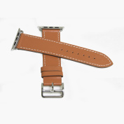 Leather Strap for Apple Watch 42MM - Brown