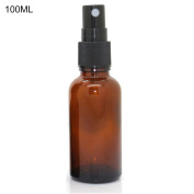 Bodhi2000 Empty Amber Glass Bottles Mist Sprayers for Essential Oil size 100ml